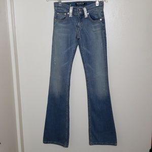 Allen B rhinestone embellished bootcut jean